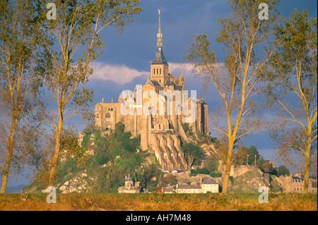 Mont Saint-Michel-UNESCO World Heritage Site Manche Normandie Frankreich Europa - Stockfoto