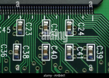 Elektronischen integrierten Schaltkreis auf einem Computer USB-board - Stockfoto