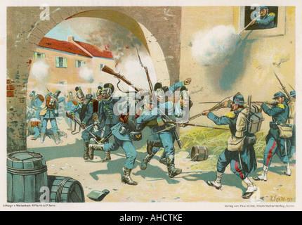 Schlacht bei Sedan 1870 - Stockfoto