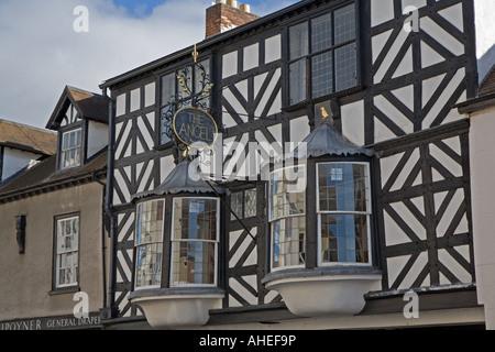 Der Engel, berühmt in Ludlow, Shropshire, England. - Stockfoto