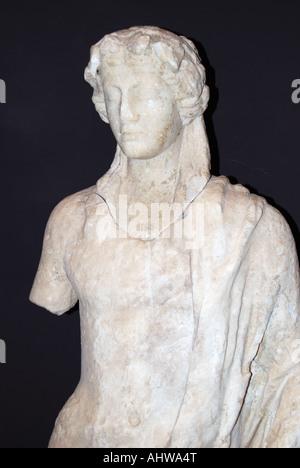Griechischer Gott Bust, Museum, Nationalpark Butrint, griechische Ausgrabungsstätte Butrint, Grafschaft von Vlora, - Stockfoto
