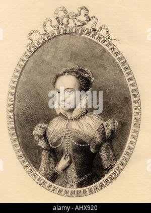 Katharina von Medici, 1519 - 1589. Italienische Adlige und Königin von Frankreich als Frau von Heinrich II. von - Stockfoto