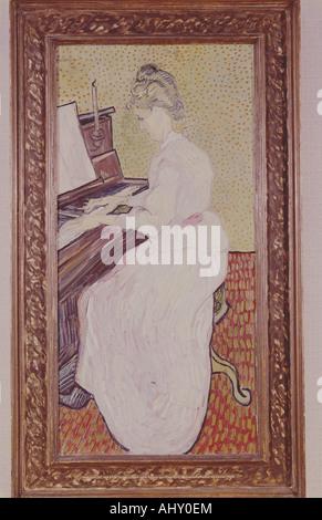 """""""Fine Arts, Gogh, Vincent van, (1853-1890), Malerei,""""Mademoiselle am Klavier"""", 1890, Öl auf Leinwand, Museum der bildenden Künste,"""