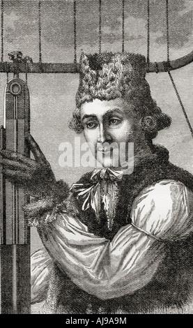 John Jeffries, 1745 – 1819. Boston Arzt, Wissenschaftler und Militärchirurg - Stockfoto