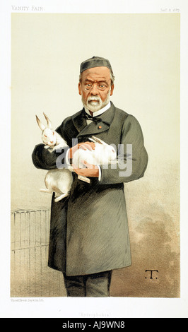 Louis Pasteur, französischer Chemiker und Begründer der modernen Bakteriologie, 1887. Artist: Unbekannt - Stockfoto