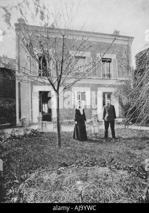 Marie (1867-1934) und Pierre Curie (1859-1906). Artist: Unbekannt - Stockfoto
