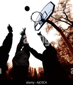 Streetball Spieler - Stockfoto