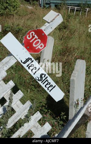Tod der Fleet Street, Trinity, Neufundland, Kanada anmelden - Stockfoto