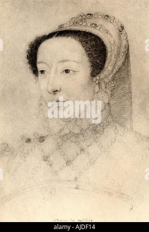Katharina von Medici, 1519 - 1589. Italienische Adlige, die Königin von Frankreich von 1547 bis 1559, die durch - Stockfoto