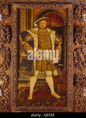 HENRY VIII 1491 1547 durch nach Hans Holbein dem jüngeren in Petworth House West Sussex - Stockfoto