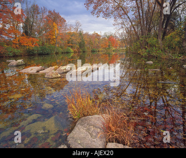 Marmor-Creek in Herbstfarbe - Stockfoto