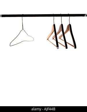 Ein Draht Kleiderbügel Stockfoto, Bild: 12124436 - Alamy