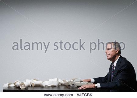 Ein Geschäftsmann denken - Stockfoto