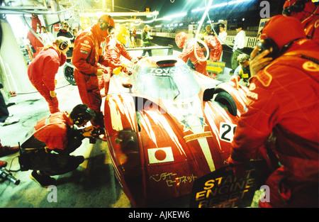 Pit Lane Aktion Le Mans 24 h Frankreich - Stockfoto