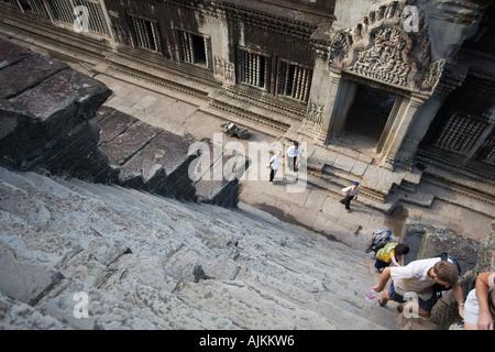 Das UNESCO-Weltkulturerbe Angkor Wat in Kambodscha in Südostasien - Stockfoto