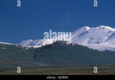 Sibellinian Berge Frühling Umbrien Italien - Stockfoto
