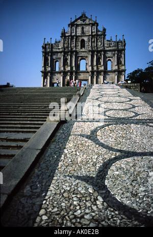 Die Ruinen von Macau Dom 2 - Stockfoto