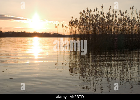 See am Abend - Stockfoto