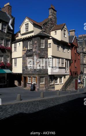 John Knox House Royal Mile Edinburgh Schottland UK - Stockfoto