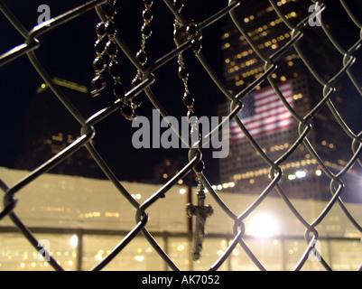 Tribut der Lichter 2003 WTC New York, NY Downtown New York World Trade Center © Mak - Stockfoto