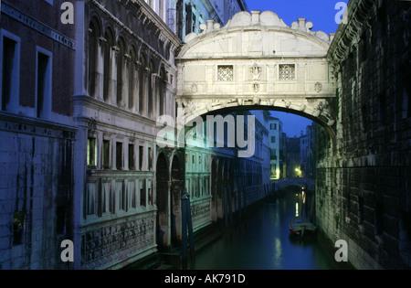 Seufzerbrücke Venedig - Stockfoto