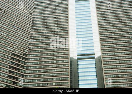 China, Provinz Guangdong, Guangzhou, Hochhaus, close-up der Fassade - Stockfoto