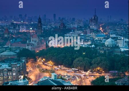 Indien, Mumbai (Bombay), Kastellareal von Colaba Bereich (Antenne) - Stockfoto