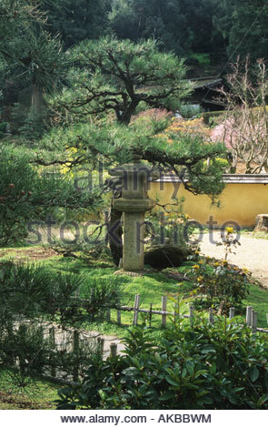 Hakone Saratoga California japanischer Garten, der Zen-Garten mit ...