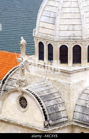 Süd-Ost-Europa, Kroatien, Dalmatien, Sibenik, St. Jacob James Kathedrale, Nahaufnahme - Stockfoto