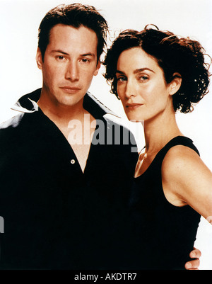 MATRIX 1999 Warner Film mit Keanu Reeves und Carrie-Ann Moss - Stockfoto