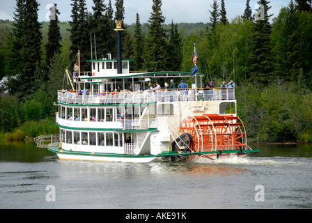 Riverboat Discovery Raddampfer am Chena und Tanana Flüsse Fairbanks Alaska Alaska Highway ALCAN Al können AK Konzession - Stockfoto