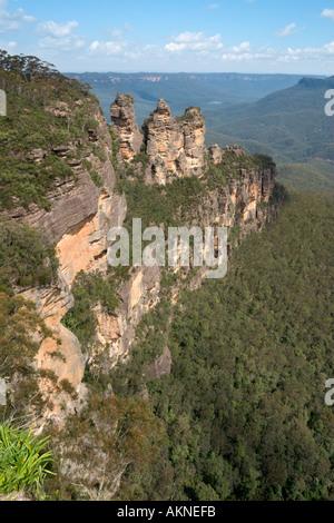 Die drei Schwestern vom Echo Point, Blue Mountains, New South Wales, Australien - Stockfoto