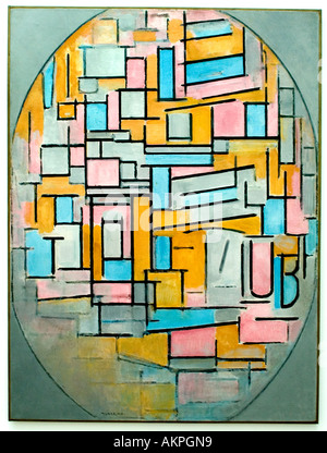 Zusammensetzung Compositie Oval 2 Piet Mondriaan Mondrian Niederlande Niederländisch (1872-1944) - Stockfoto