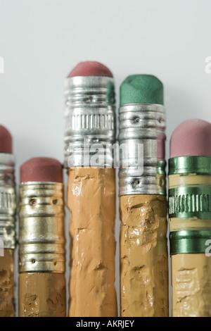 Zerkaute Bleistifte - Stockfoto