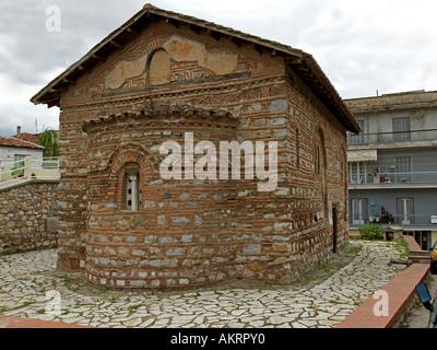 Byzantinische Kirche von Ayios Agios Nikolaos Kasnitzi in Kastoria westlichen Mazedonien Griechenland - Stockfoto