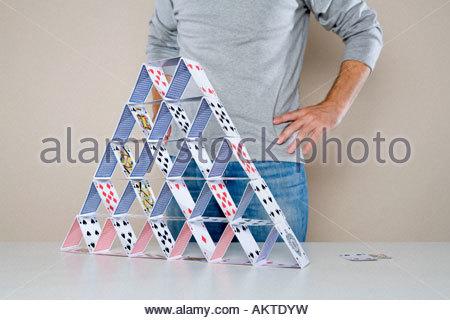 Überlebende von Kartenhaus - Stockfoto