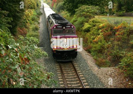 MBTA Personenzug bei Plymouth MA USA - Stockfoto