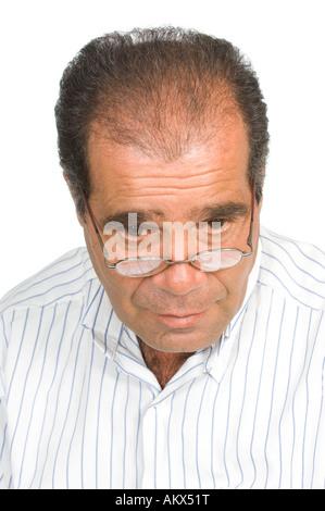 Reifer Mann mit Haarausdünnung problem - Stockfoto