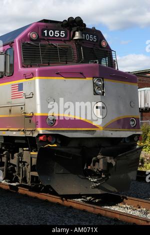 Nase der MBTA Passagier Lokomotive - Stockfoto