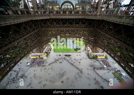 Eiffelturm, Paris, Île-de-France, Frankreich - Stockfoto