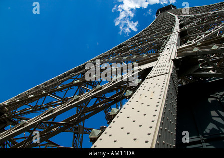 Eiffelturm, Detail, Paris, Île-de-France, Frankreich - Stockfoto