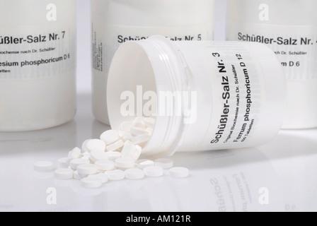 Alternative medizinische Systeme Schüssler Salze - Stockfoto