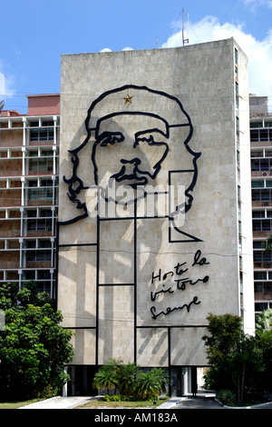 Bild von Che Guevara am Plaza De La Revolution Havanna Kuba - Stockfoto