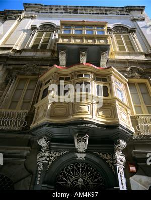 Valletta - Ansicht der Erker - Stockfoto