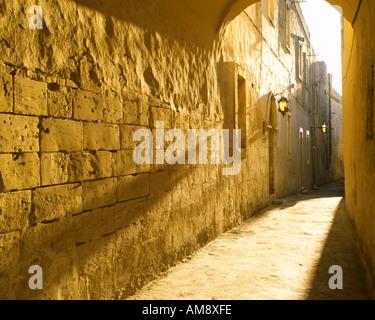 MT-MDINA: Innerhalb der ummauerten Stadt Detail - Stockfoto