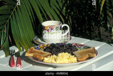 Typisches costaricanisches Frühstück namens Gallo Pinto - Stockfoto