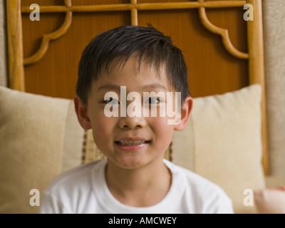 Nahaufnahme eines jungen lächelnd - Stockfoto