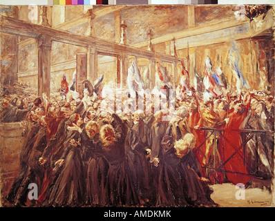 """Fine Arts, Liebermann, Max, (1847-1935), Malerei,"" Papst Leo XIII. in der Sixtinischen Kapelle "", ("" Papst Leo - Stockfoto"