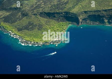 Kealakekua Bay Antenne Big Island Hawaii gedreht - Stockfoto