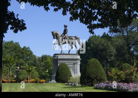 Statue von George Washington in Boston Public Garden - Stockfoto